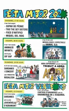 Cartell FEsta Major Sant JUlià de Vilatorta i Vilalleons 2020